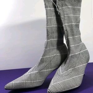 Striped sock boots